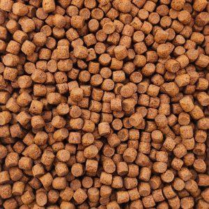 Floating trout pellets